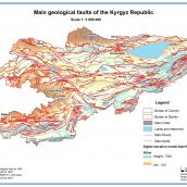 Main geological faults of the Kyrgyz Republic
