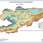 Ground water flooding zone of Kyrgyz Republic