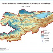 Location of Hydroposts and Metestations in the territory of the Kyrgyz Republic