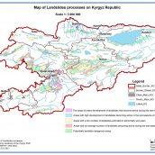 Map of Landslides processes of Kyrgyz Republic