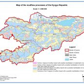Map of the mudflow processes of the Kyrgyz Republic