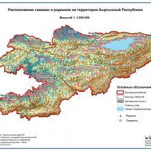 Расположение скважин и родников на территории Кыргызской Республики