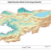 Digital Elevation Model of the Kyrgyz Republic